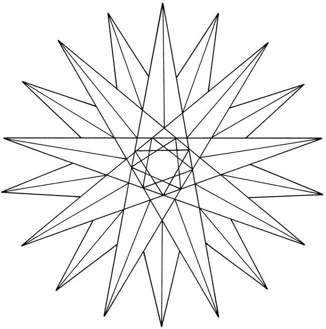 Creative Haven Geometric Star Designs Coloring Book (With