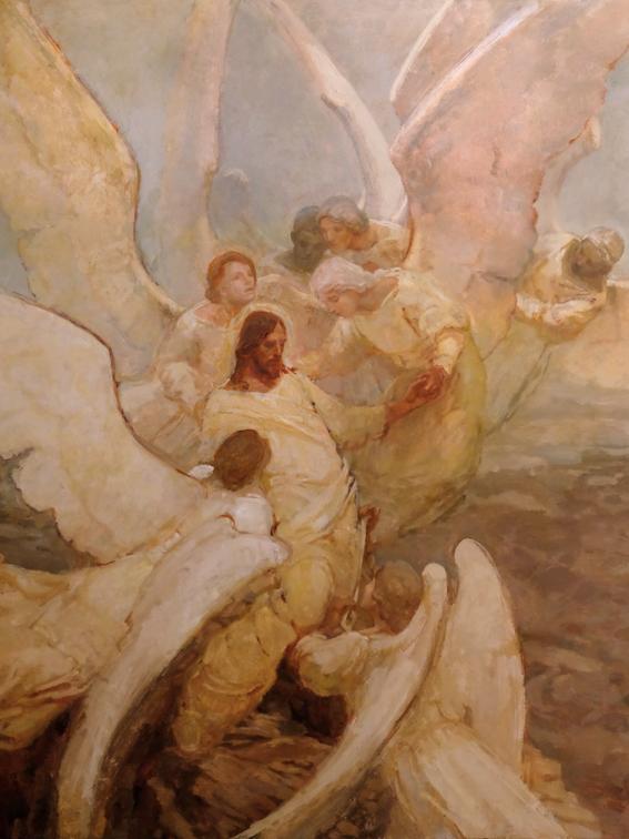 Photo of J. Kirk Richards Angels Ministered Unto Him Canvas Print