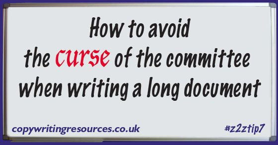 Avoid the curse of the committee when writing a long document