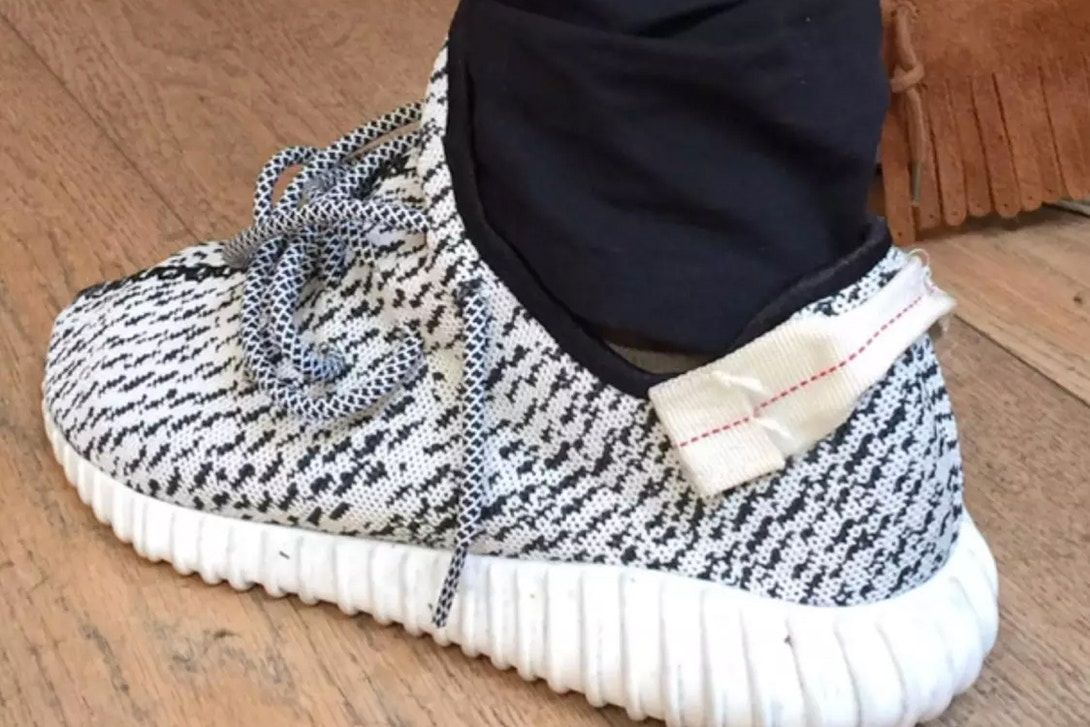 21312c7a5c1 ... promo code kanye west shows off original adidas yeezy boost 350 sample  2b088 8e1cf