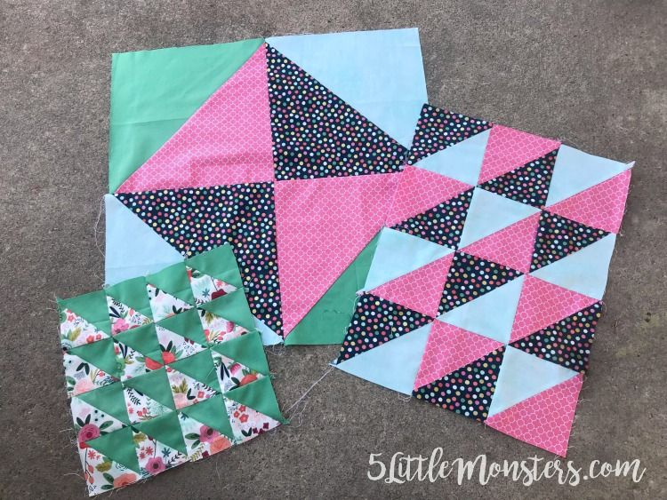 Half Square Triangles With The Cricut Maker Half Square Triangles Diy Fabric Crafts Half Square Triangle Quilts