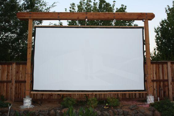Diy Outdoor Movie Screen Holder