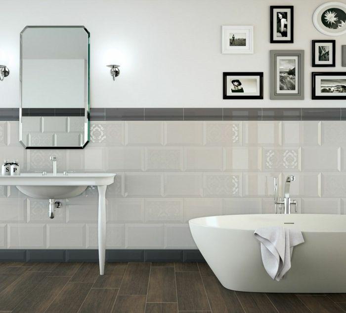 holzoptik bodenfliesen badezimmer einrichten Badezimmer Ideen