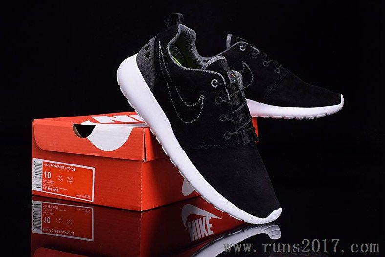 Nike Roshe Run Suede Hyp Qs Black Grey Nike Shoes Roshe Nike Shoes Women Nike Shoes