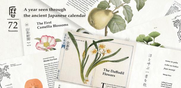 le 72 stagioni del calendario giapponese antico_giardinote