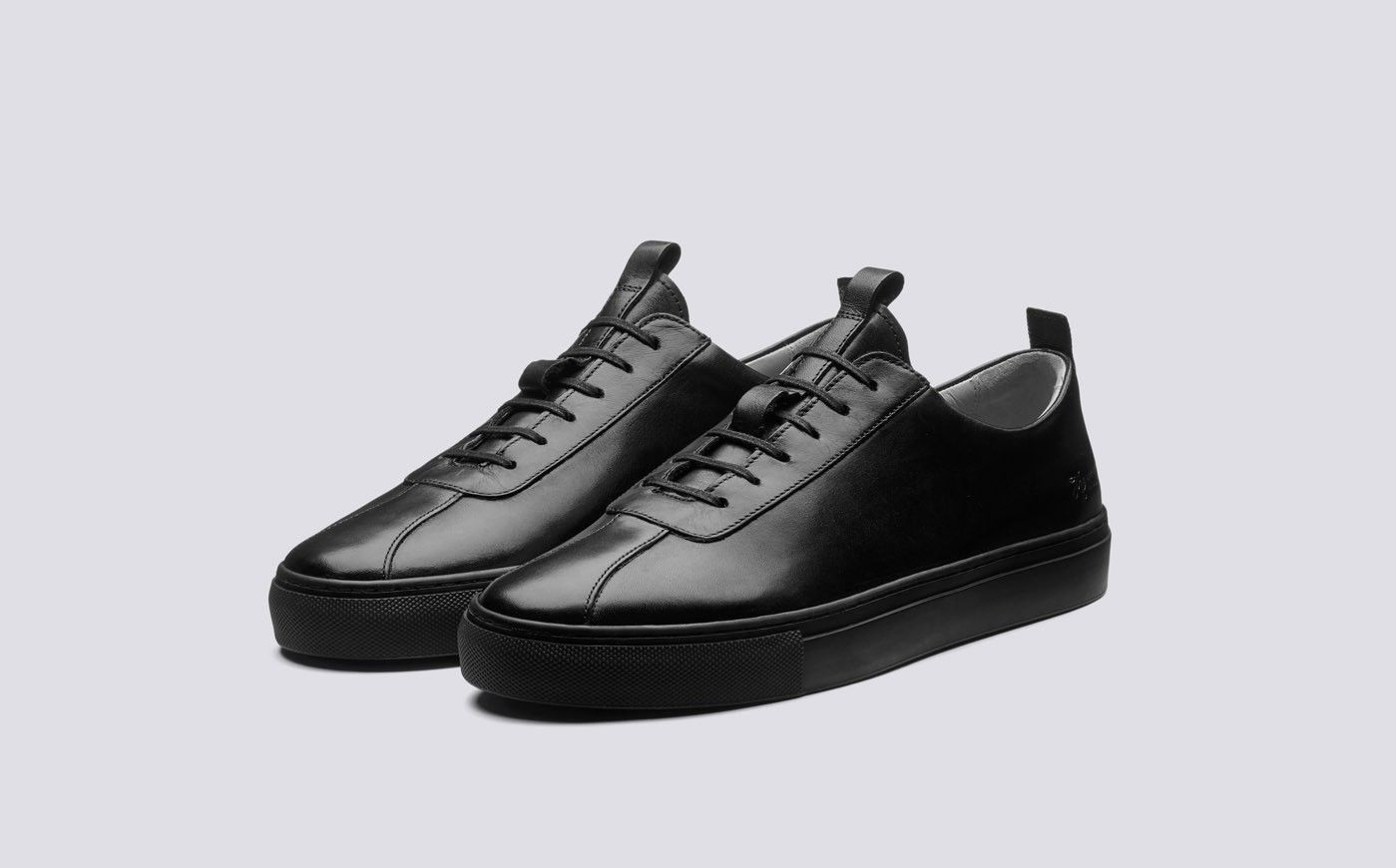 Sneakers for Men in Black Leather in