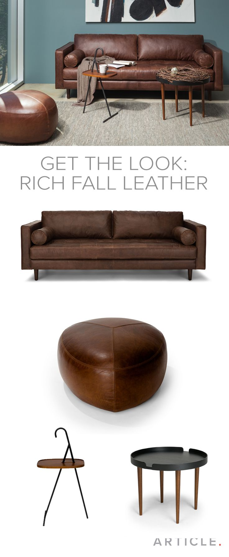 Sven Charme Chocolat Sofa Tufted Leather Sofa Brown Leather