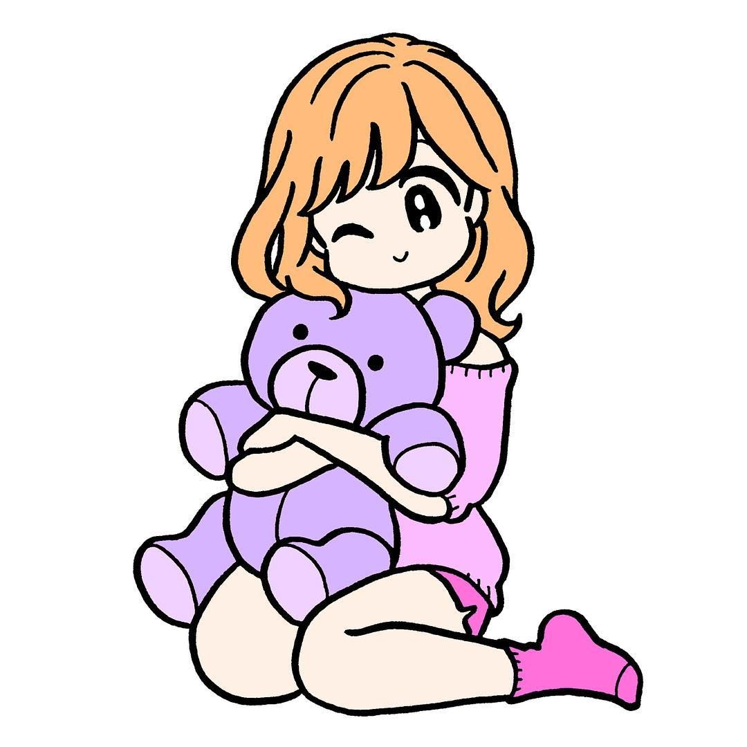 Conixさんはinstagramを利用しています Illustration Illust Drawing Girl Stuffedanimals Anime Drawings Sketches Cute Art Concept Art Characters