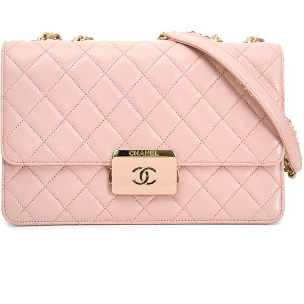 d8ae8ae2582 Chanel Pink Sheepskin Flap Bag (2.218.185 CLP) ❤ liked on Polyvore  featuring bags