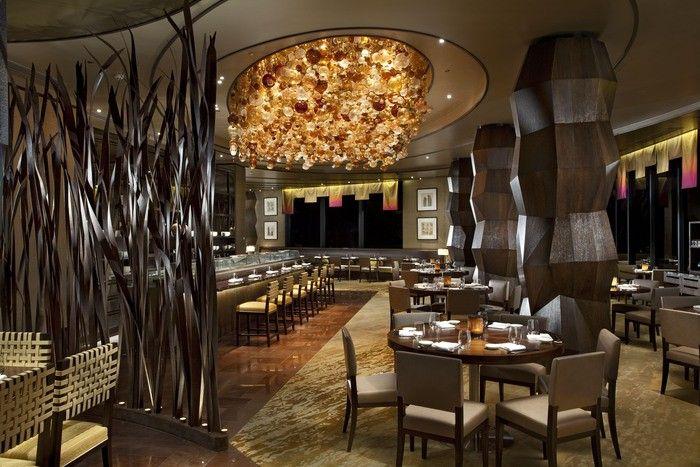 Designer Restaurant Furniture Beautiful Dark Brown Wood Glass Unique Design  Best Restaurant In Exterior