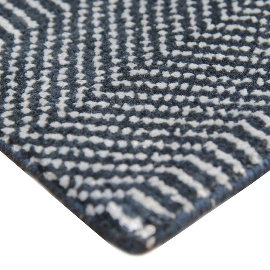 Hamilton Rug Deep Dark Blue Rugs