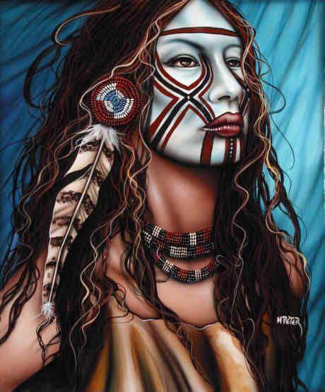 cherokee indian art | Native American Art (Warriors)