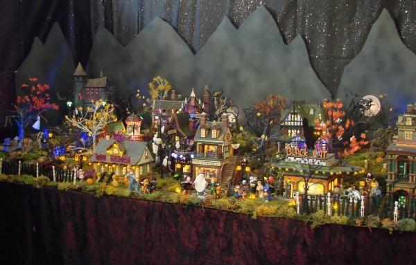 Halloween village display | Halloween - Spooky | Pinterest ...