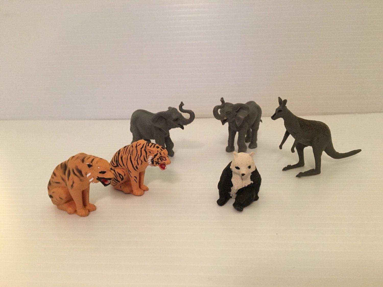Vintage Jungle Forest Zoo Miniature Plastic Animal Toys 1960 S Tiger