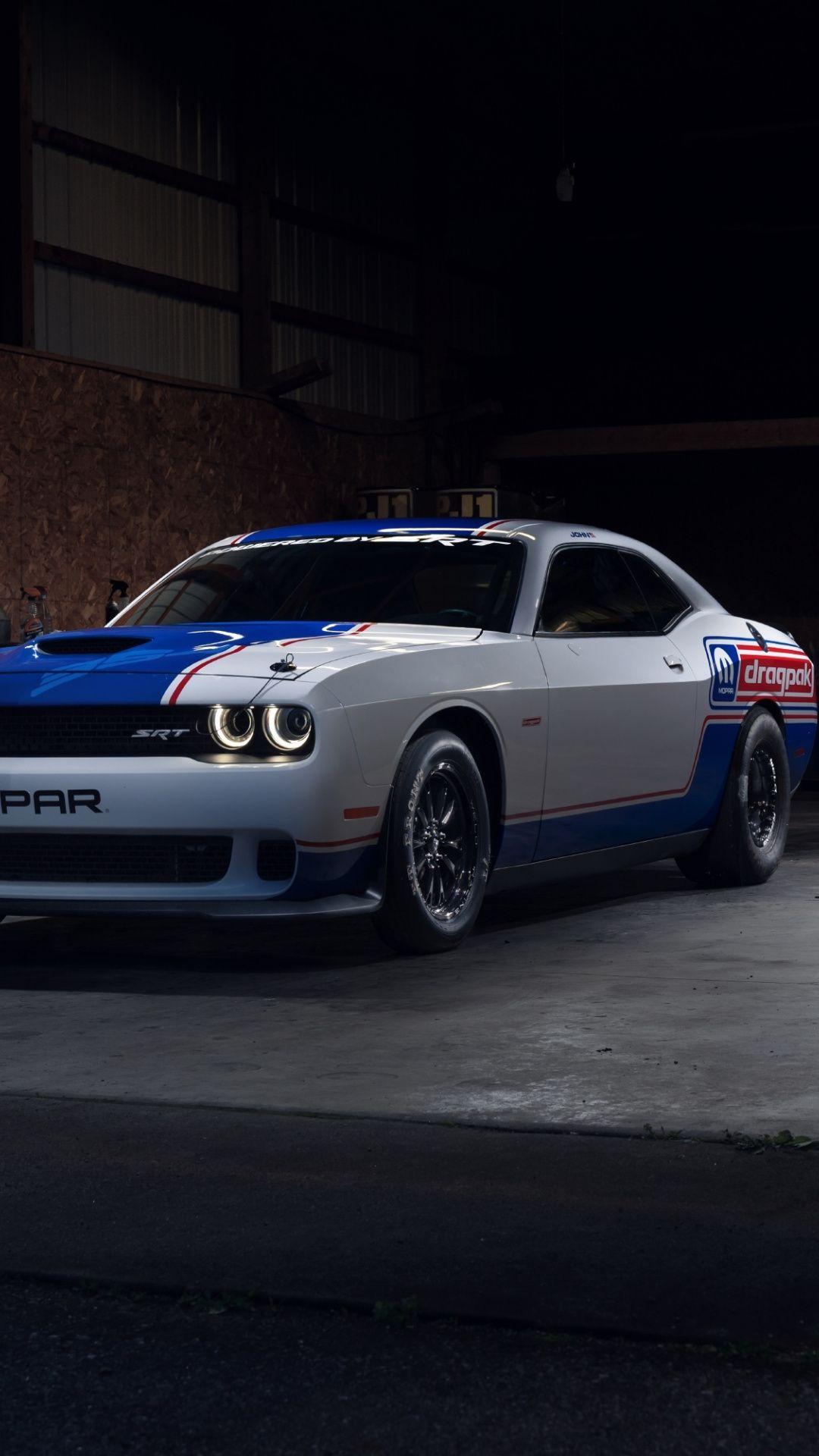 1080x1920 2020 Mopar Dodge Challenger Drag Pak Car Wallpaper