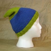 Adult Hat Pattern Fitted & Knitted - for Straight Needles