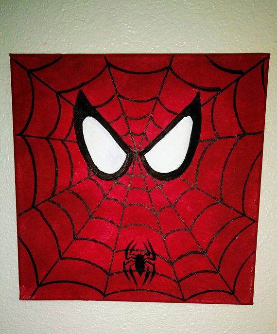 Spiderman Canvas Painting Room Decor Superhero Boys PaintingSuperhero Superheroe