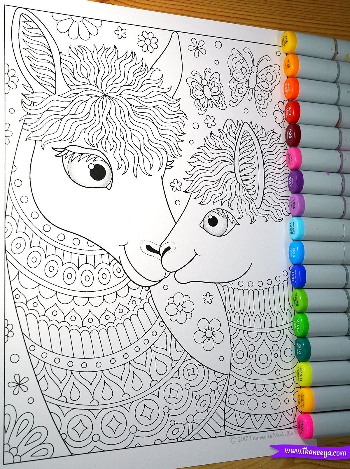 Llama Mama And Baby Coloring Page From Thaneeya Mcardle S Delightful Animal Families Coloring Book Family Coloring Pages Coloring Books Cool Coloring Pages