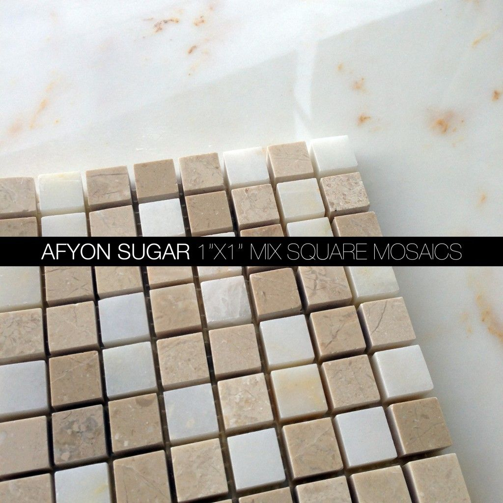 Afyon sugar marble square mosaic allmarrbletiles afyon sugar shop quality marble tiles mosaics custom waterjet kitchen tiles bathroom tiles with discounted prices doublecrazyfo Gallery
