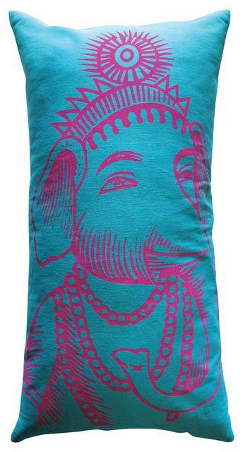 Slim Ganesh Pillow Turquoise Pillows Blue Pillows