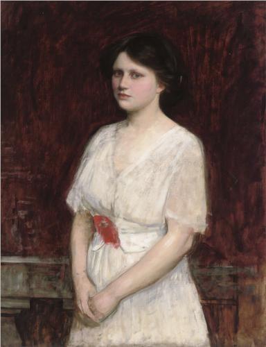 Portrait of Miss Claire Kenworthy - John William Waterhouse