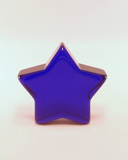 Cobalt Blue Glass Star Paperweight