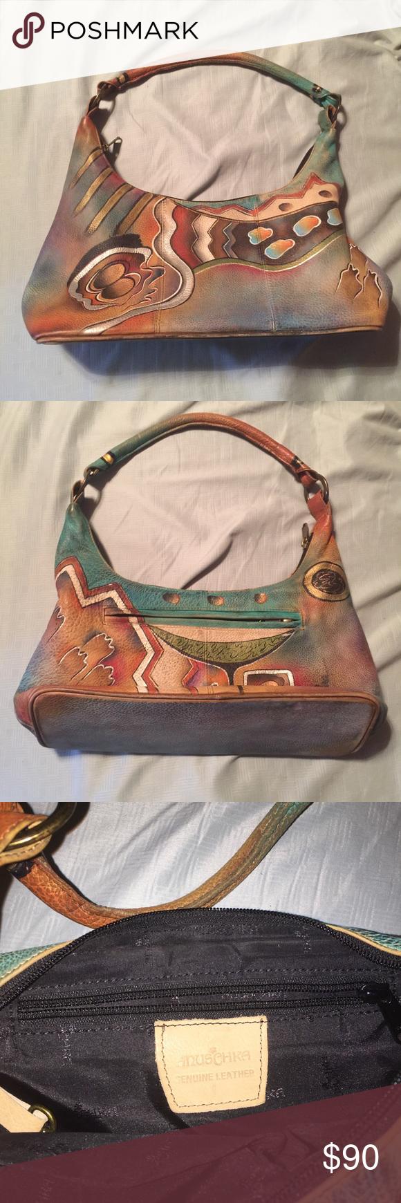 Anuschka Hand-painted Purse Beautiful hand-painted genuine leather Anuschka  purse. Very good used condition. Anuschka Bags 48a522e4c2