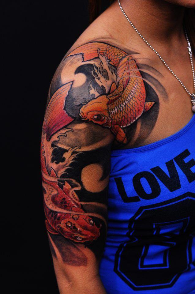 Pin By Wietse Van On Asian Colour Tattoos Half Sleeve Tattoos Designs Half Sleeve Tattoo Tattoo Sleeve Designs