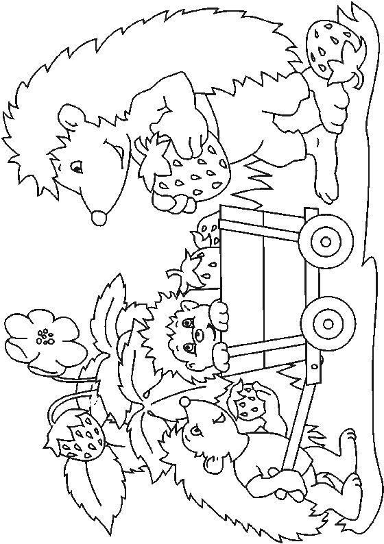 Allerlei Kleurplaten Herfst.Kleurplaat Egels Egels Thema Herfst Allerlei Hedgehog Colors