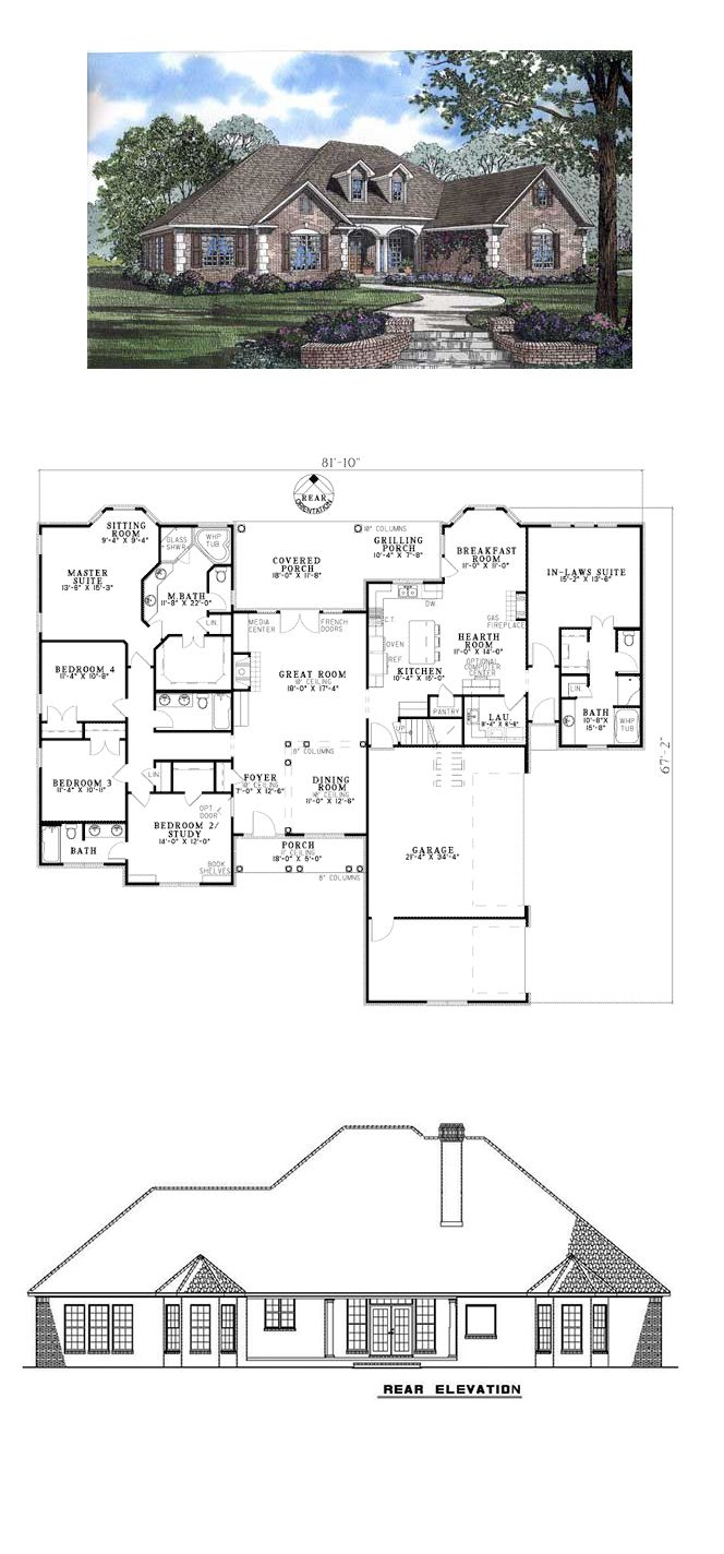 French Country House Plan 62169 Total