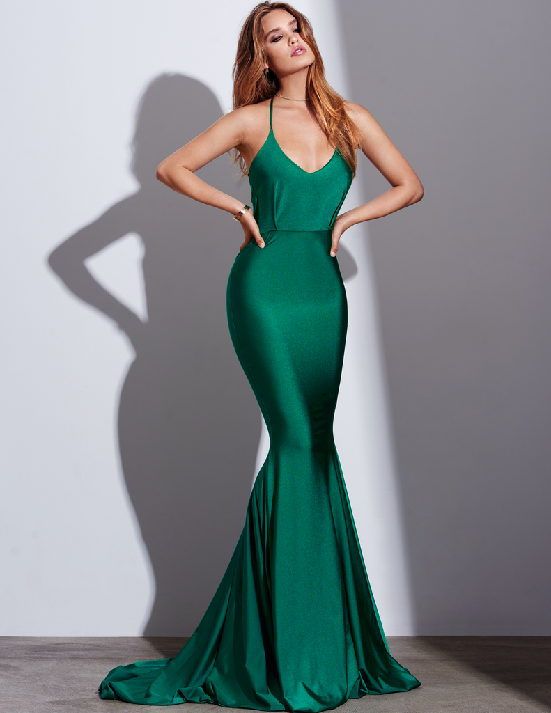 Gemeli power green style long dress legs shoes green dress