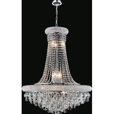 CrystalWorld Kingdom 13 Light Crystal Pendant