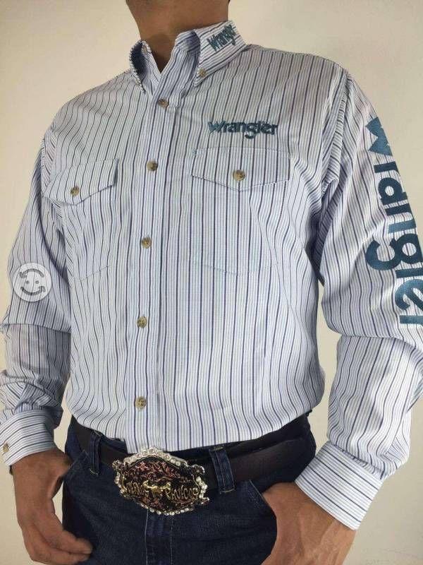 Camisa caballero wrangler con bordados  411d58daa3b0d