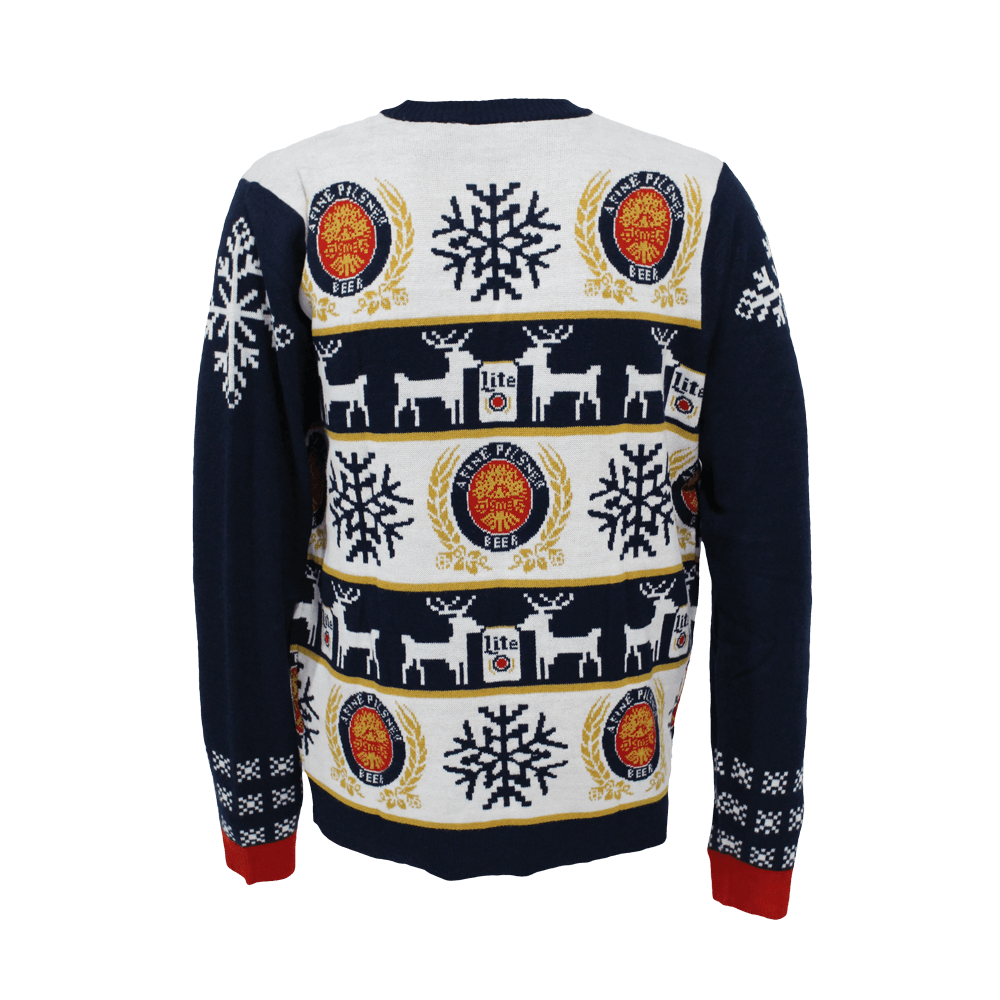 Miller Lite Holiday Sweater Miller lite gifts, Holiday