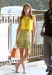 Leighton Meester Knee Length Skirt