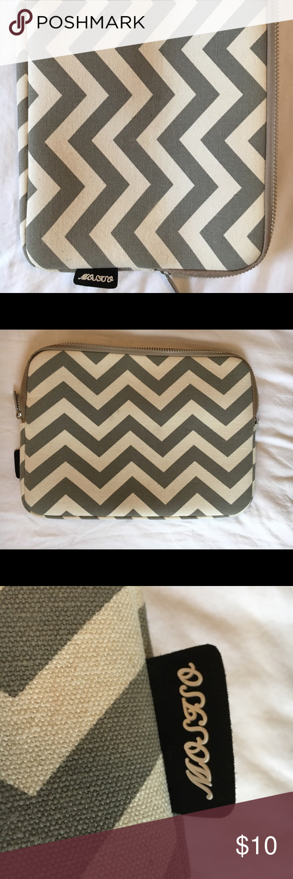 Laptop case Mosiso laptop sleeve for 13-13.3 inch MacBook Pro, MacBook Air. Chevron style canvas case cover, grey mosiso Accessories Laptop Cases
