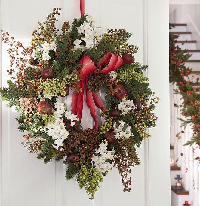 Guirnaldas y coronas 15 manualidades de navidad para decorar navidad - Guirnaldas navidad manualidades ...