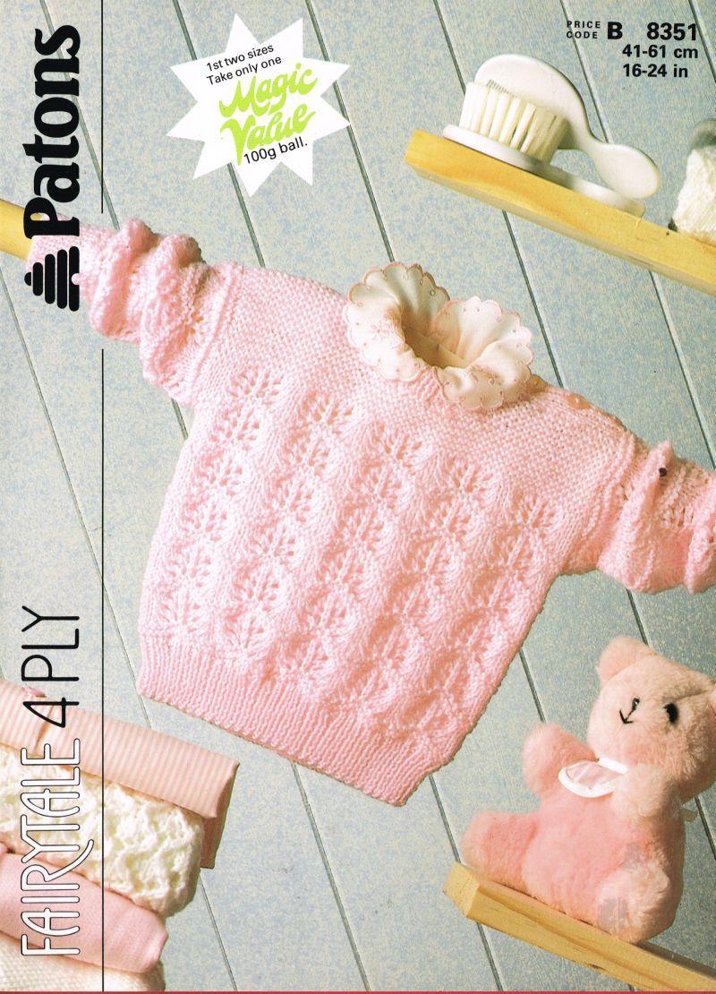 Patons 8351 - vintage baby jumper knitting pattern https://www ...