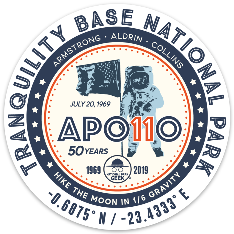 Apollo 11 Tranquility Base NP Sticker *Special Edition