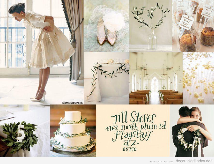 Decorar boda de invierno minimalista, elegante y natural ...