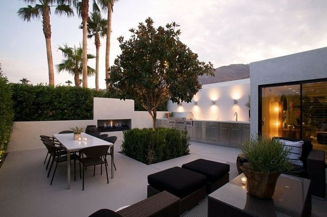 am nagement terrasse en 105 id es modernes et l gantes terraced garden patios and landscape. Black Bedroom Furniture Sets. Home Design Ideas