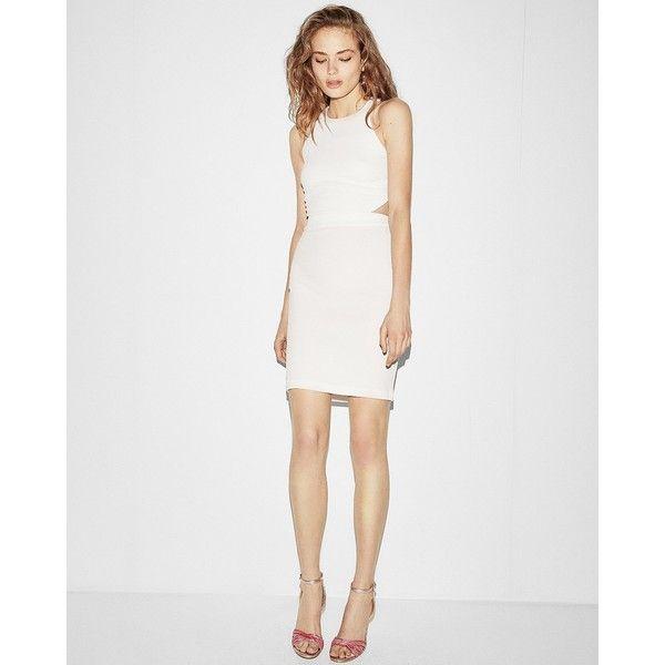 Express Cut-Out Back Mini Sheath Dress (47 CAD) ❤ liked on Polyvore ...