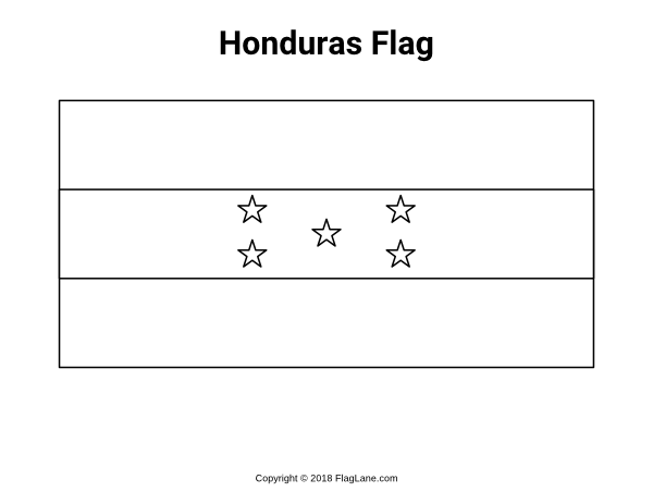 - Free Printable Honduras Flag Coloring Page. Download It At  Https://flaglane.com/coloring-page/honduran-flag/ Honduras Flag, Flag  Coloring Pages, Coloring Pages