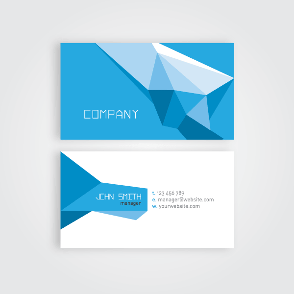 Geometric business card vector template business cards and template geometric business card vector template reheart Images
