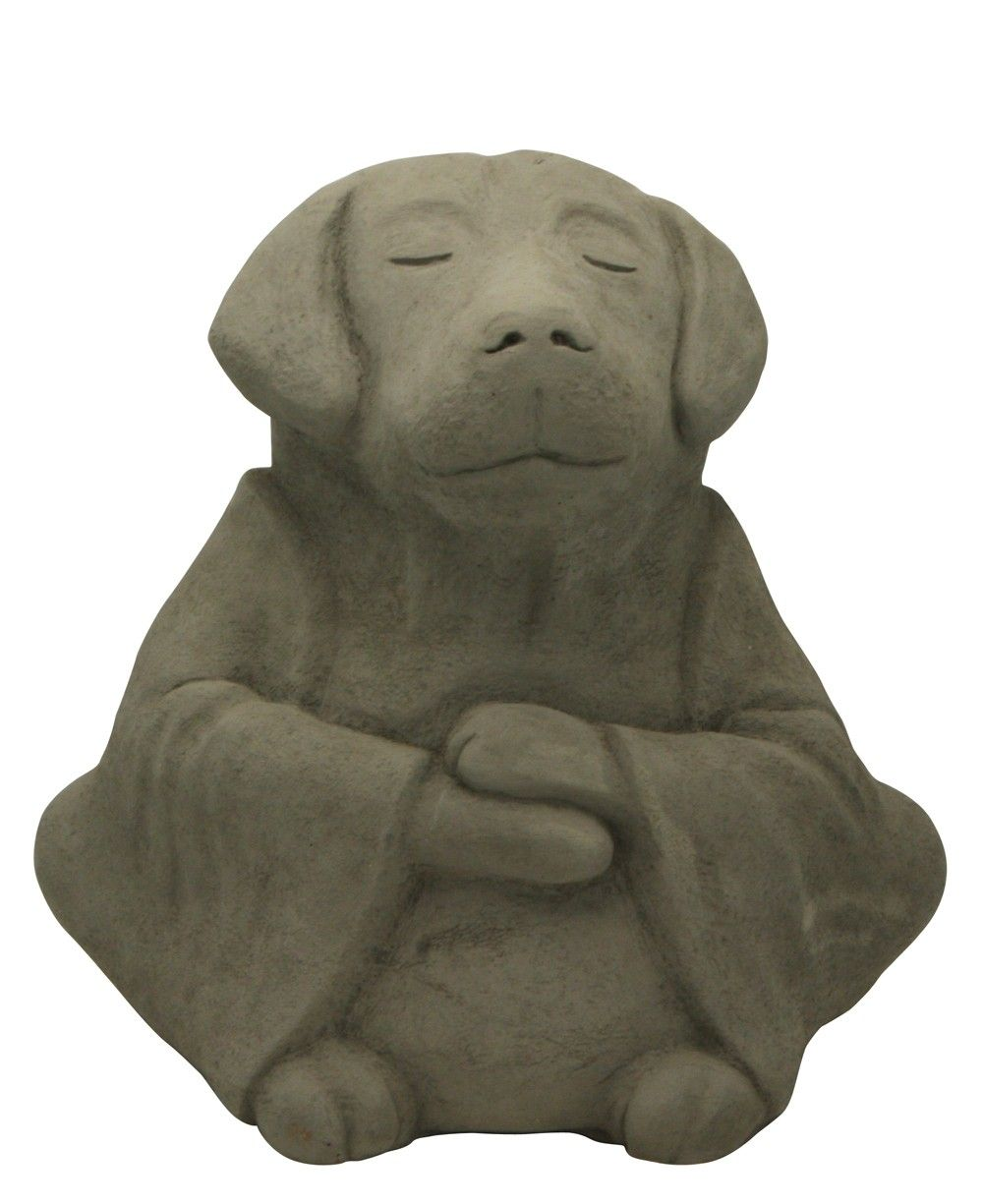 meditating dog zen garden statues animal sculptures garden pinterest garden statues. Black Bedroom Furniture Sets. Home Design Ideas