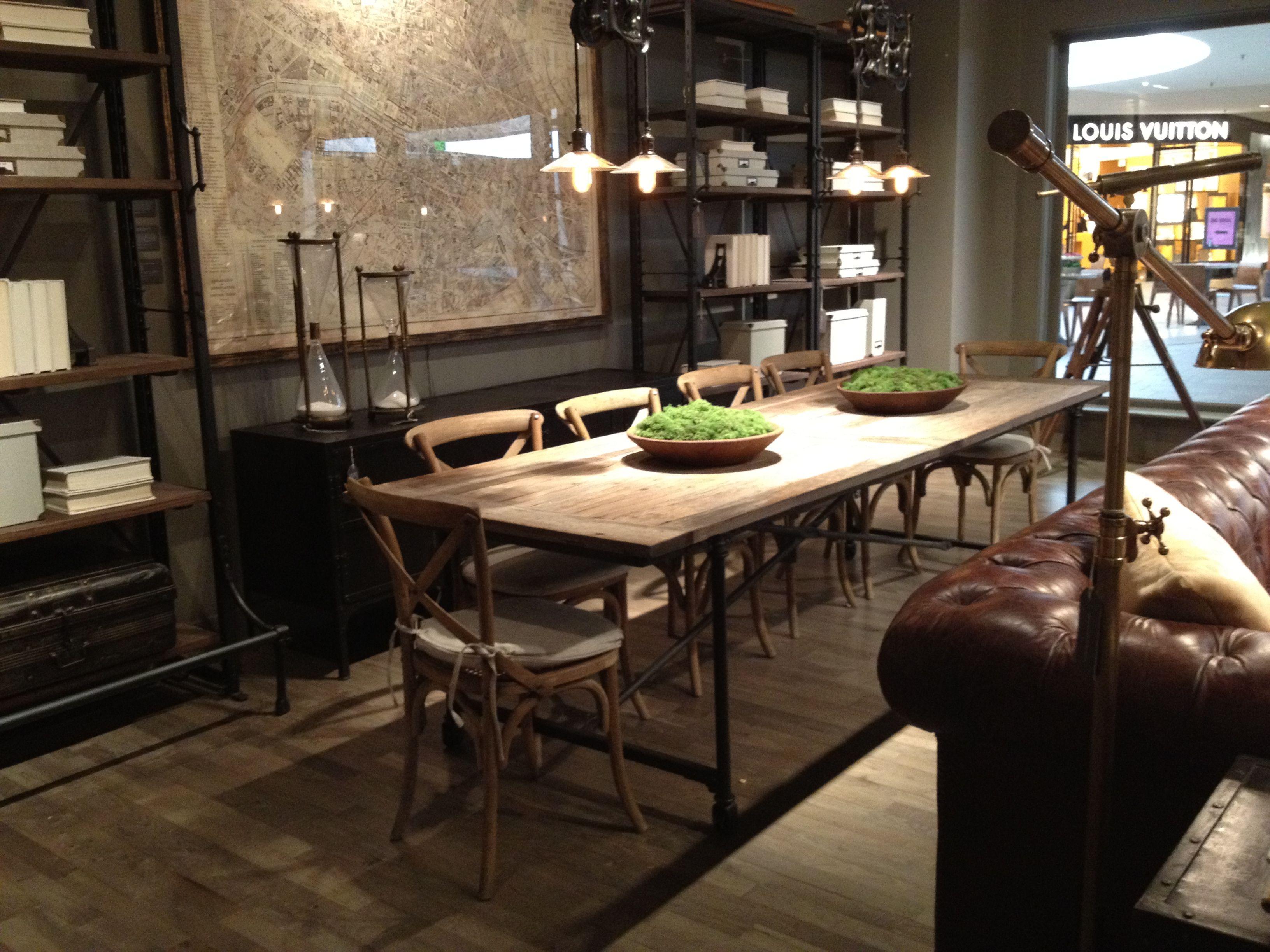 Restoration Hardware Flatiron Table Dining Room In 2018