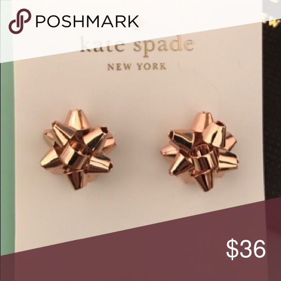 c08b987b2295e Kate Spade ♠️ rose gold ribbon earrings NWT Super cute rose gold ...