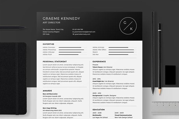 ResumeCv  Graeme Kennedy By Broductive On Creativemarket