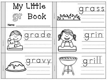 Flip Books for R Blends, S Blends, L Blends and Ending