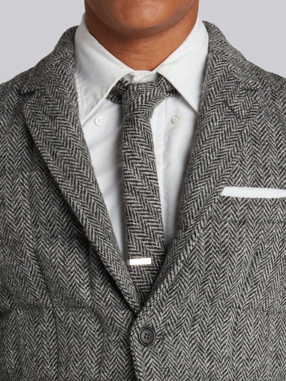 19c1df743144 Herringbone Tie - Thom Browne
